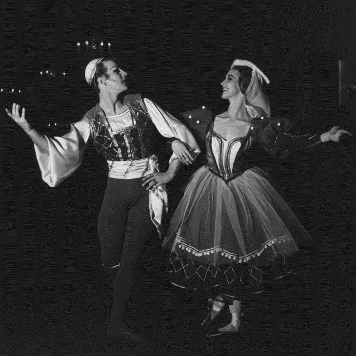 Karl Welander and Kathleen Geldard in Swan Lake, 1962