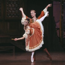 Lisa Pavane and Greg Horsman in Copplia Act One, 1992. Photo Jim McFarlane