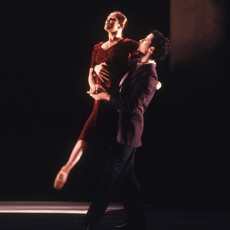 Lisa Bolte and Robert Curran in At the edge of night, 1999. Photo Branco Gaica