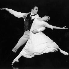 Damien Welch and Miranda Coney in Cinderella, 1997 Photo Jim McFarlane